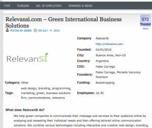 Company review of RelevanSi by Discovering startups